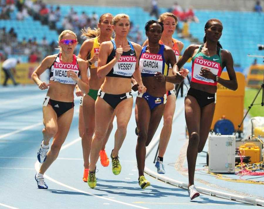 Vessey is seen here running in the2011 World Championships Racing in South Korea.