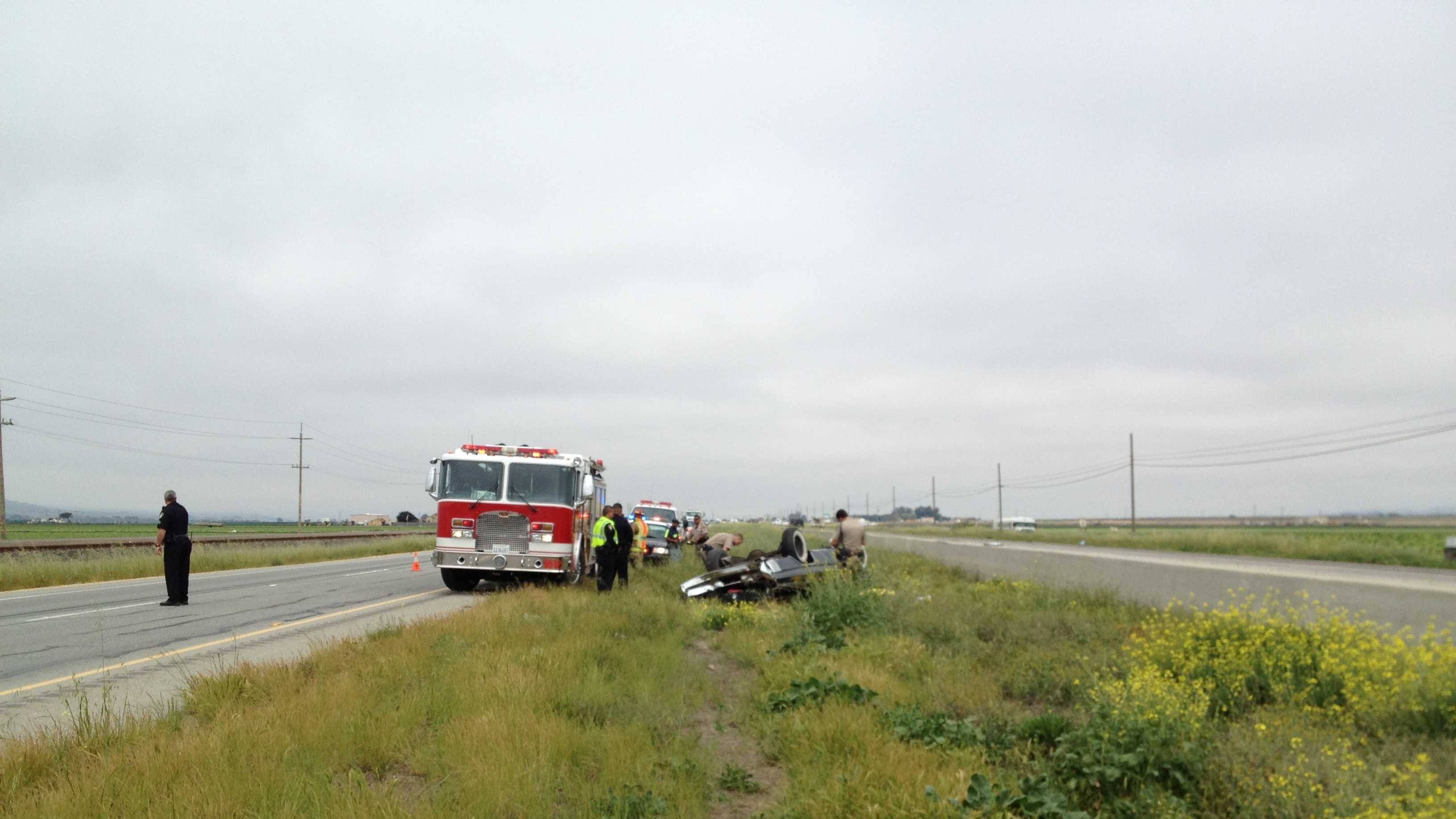 Fatal accident on Highway 101 near Old Stage Road