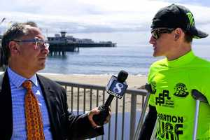 KSBW Reporter Phil Gomez interviews injured but still very athletic soldiers at the 2012 Operation Surf Santa Cruz.