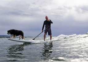 Two Santa Cruz surf schools, Amazing Surf Adventures and Richard Schmidt Surf School, host the week-long outdoor sports event.