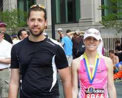 Stephanie Kern and Alek Kokoszka began Sunday's marathon as single and finished it as husband and wife.