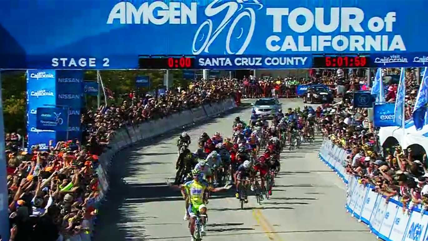 Peter Sagan wins Stage 2 of the 2012 Amgen Tour of California at Cabrillo College in Aptos. (May 14, 2012)