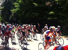 Amgen bicyclists entered Santa Cruz by traveling through dense redwood forests on Old San Jose Road until they hit Soquel Drive. The snaking stretch on Old San Jose Road was so steep that bicyclists barely even pedal as they zoom down the Santa Cruz Mountains.