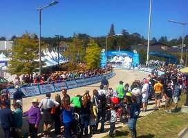 It was a thrilling finish to watch for hundreds of professional cycling fans who waited at Cabrillo College's finish line.