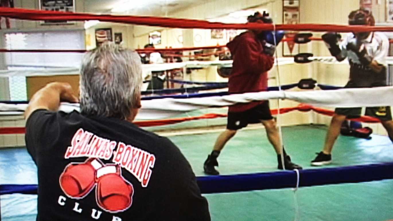 Boxing coach Daniel Lujan