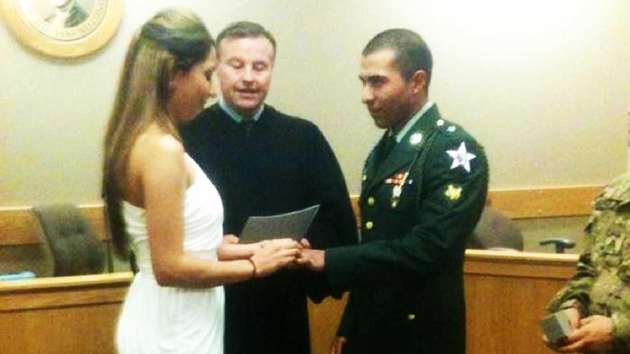 Army Spc. Vilmar Galarza Hernandez married Margarita Contreras-Galarza on March 28, 2012.