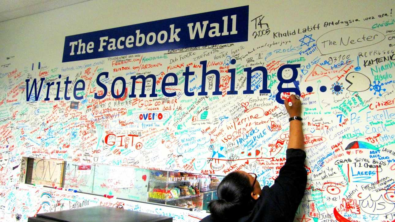 You can write on the walls all you want at Facebook.