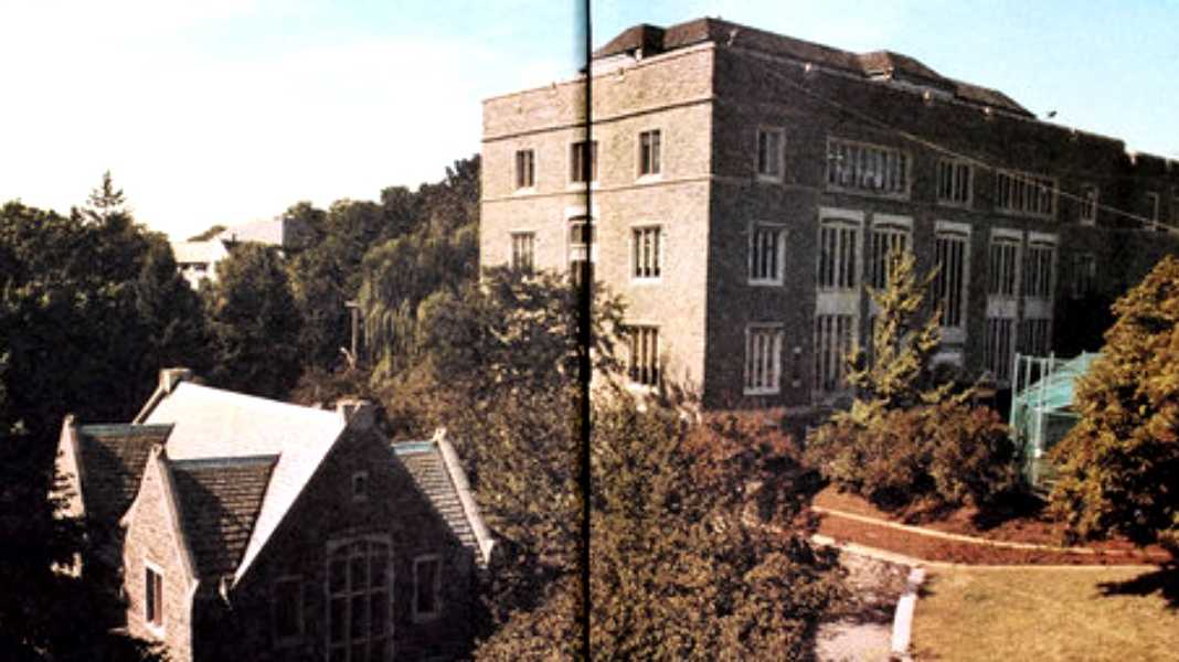 Horace Mann School is seen in the school's yearbook.