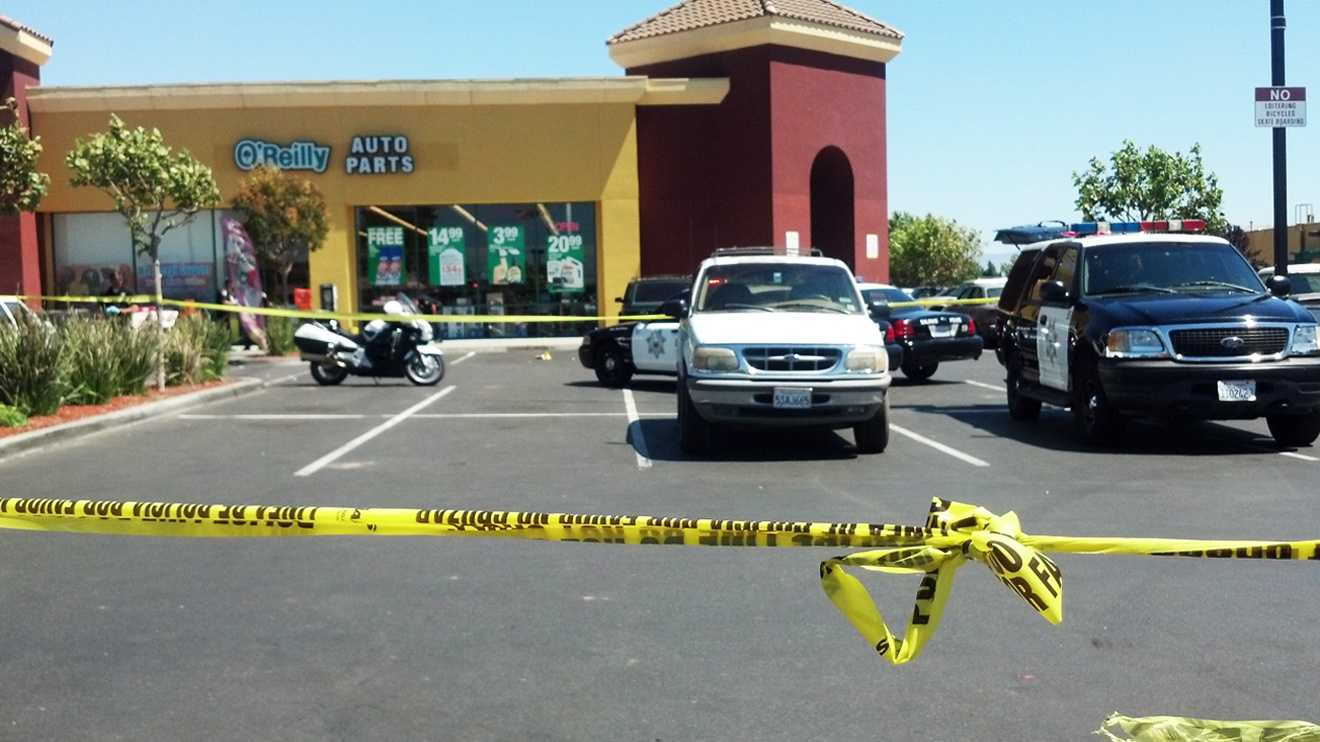 Four people were shot in an East Salinas shopping center on Thursday. (June 28, 2012)