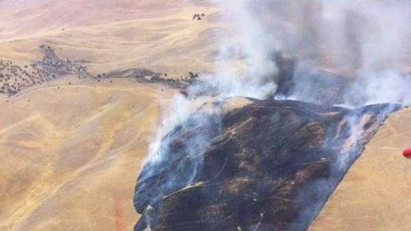 More than 1,500 acres burned in southeast Monterey County.
