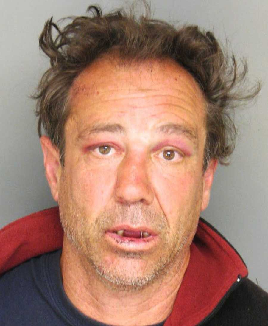 "Paul Boulerice, 49, harassed and chased customers outside a grocery store in Salinas, and spit on several parked vehicles before he was arrested on July 8.""Boulerice intimidated and chased an elderly female in the parking lot and was challenging several bystanders to fight for no apparent reason,"" Salinas police said."