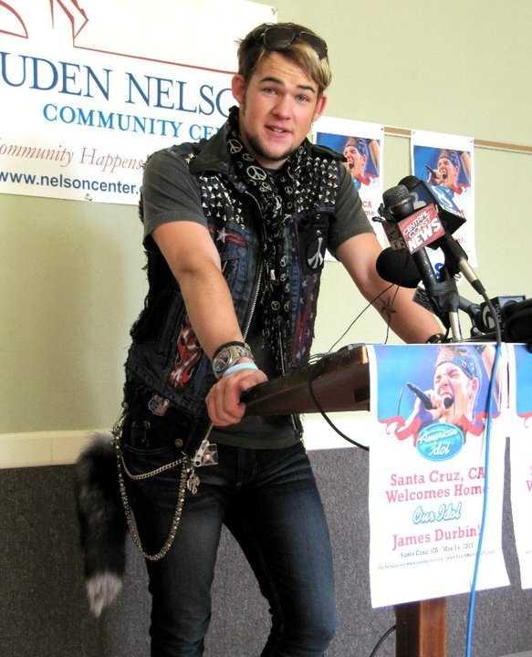 James Durbin speaks at the Louden Nelson Community Center in Santa Cruz.