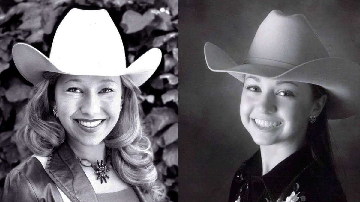 Tracy Hinson, left, and Grace Tobias, right, are in the running for 2012 Miss California Rodeo Salinas.