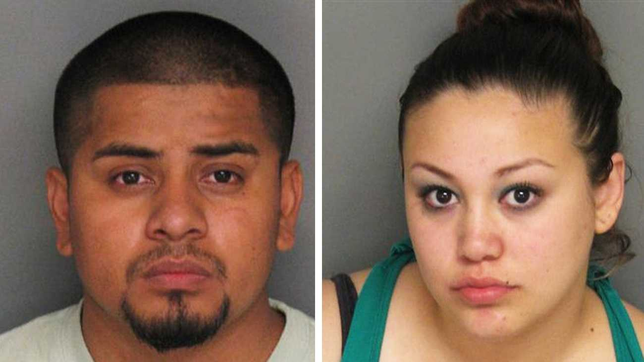 Rosendo Lopez, left, and Lizette Martinez, right, are seen in police mug shots.