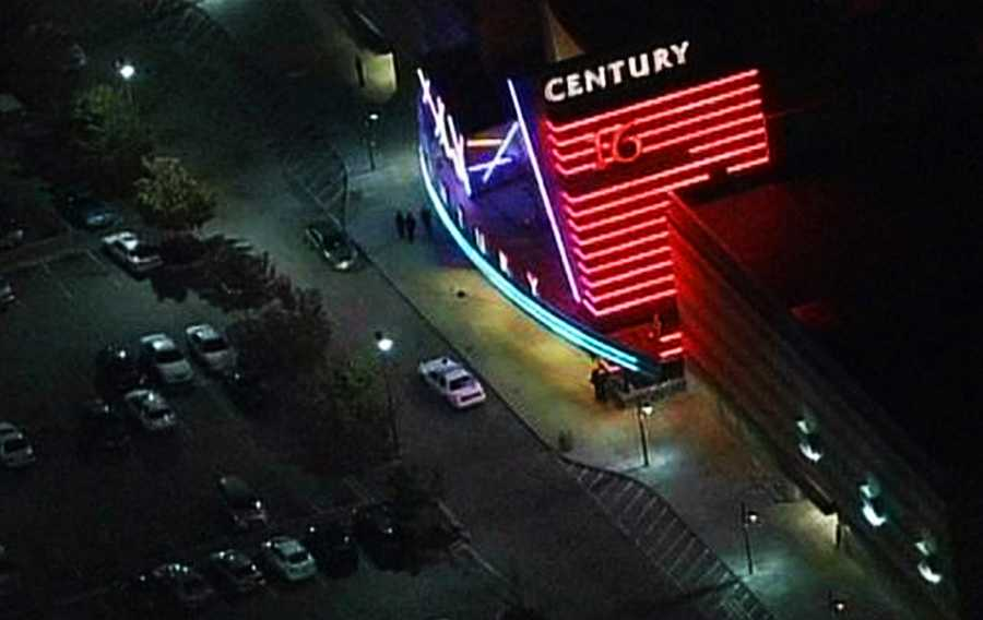"""The midnight showing of """"The Dark Knight Rises"""" at this Aurora, Colorado theater on July 20, 2012, turned into one of the deadliest mass shooting sprees in recent U.S. history."""