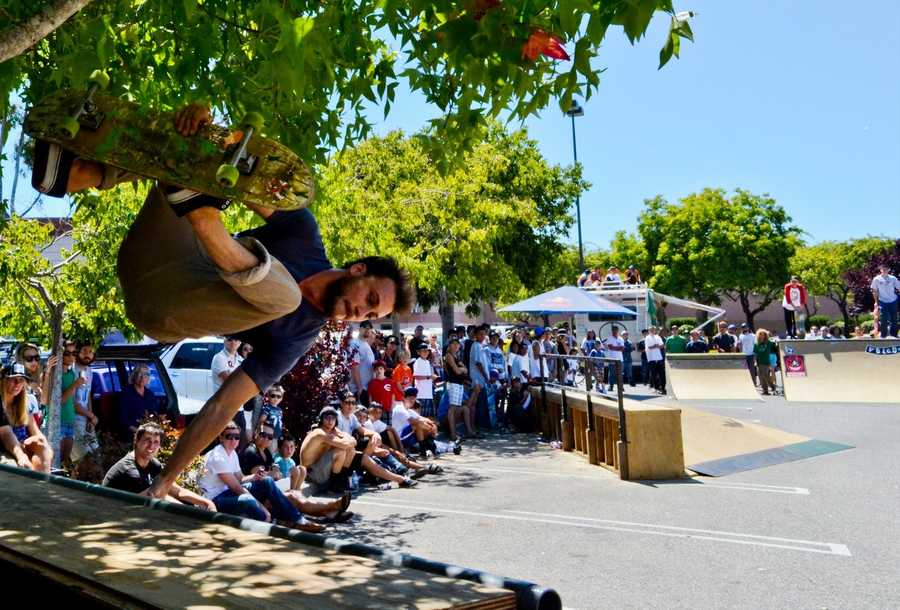 Capitola is home to numerous skilled teenage skateboarders but it does not have a skate park.  (July 21, 2012 / Photo by Chris Elmenhurst)