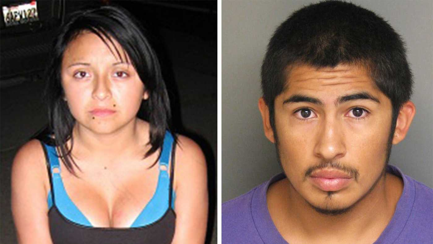 Eunice Serrato, left, and Juan Salazar Jr.