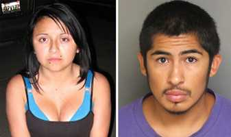 Juan Manuel Salazar Jr., right, is the prime suspect in a July 28 double homicide in Monterey County that sparked an Amber Alert. His mother, father, uncle, friend and girlfriend, left, were also roped into the case.