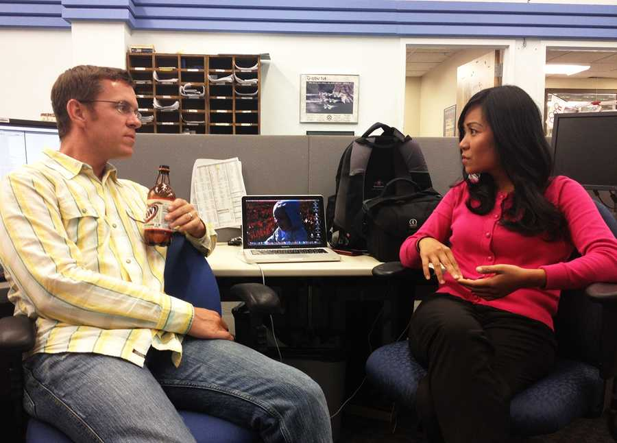 Ben Bamsey is the 11 p.m. news producer. He decides what news you will watch at night.