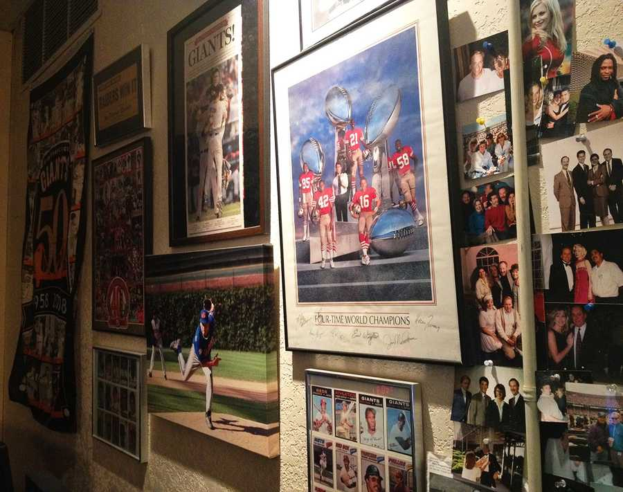 Dennis Lehnen's sports office is covered in cool stuff.