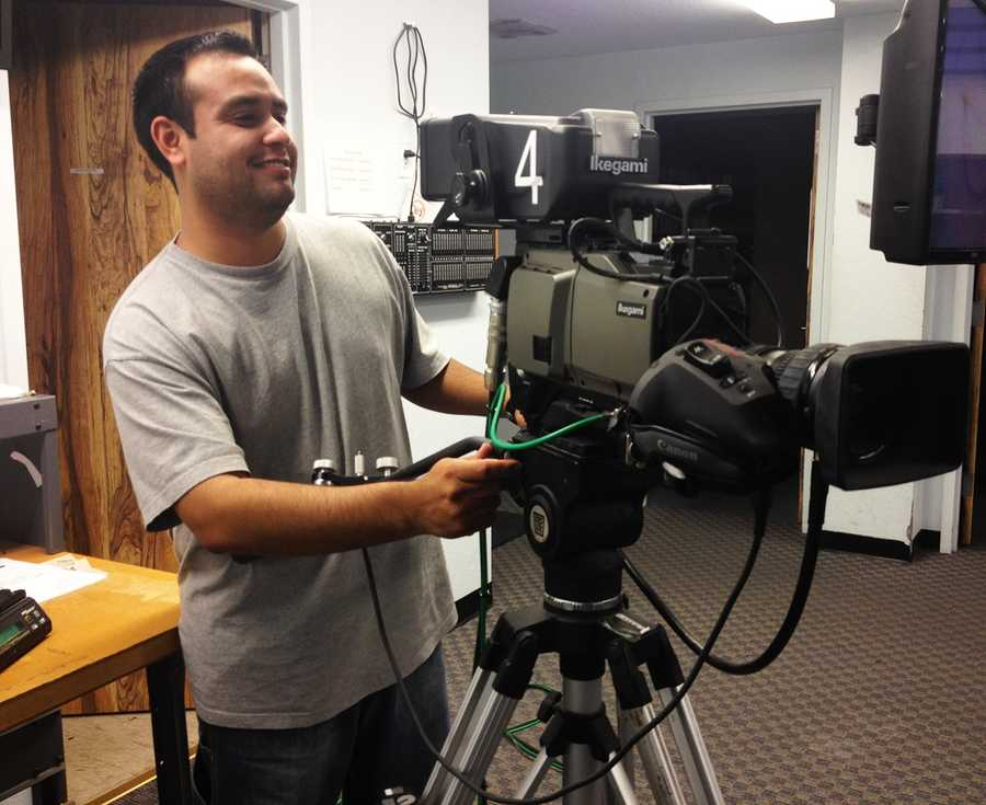 Cameraman Juan Figeroa shoots most of KSBW's morning courtroom footage during major trials.