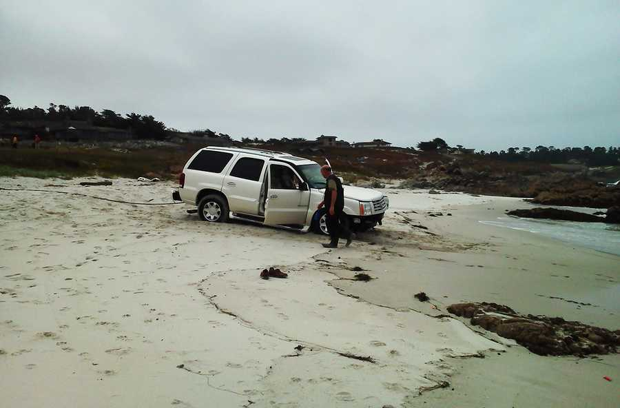 """""""This is not the first time this happened in this area,"""" Lehman said of vehicles landing in the ocean off 17 Mile Drive. """"Those are sharp turns, so there is not a large margin for error."""""""