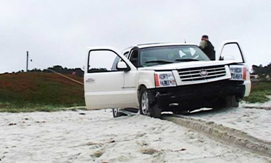 The crash happened on a beach that stretches below Cypress Point Golf Course.