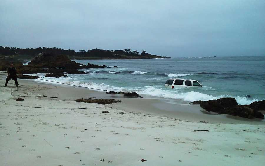 Ponsonby is a skilled beat boxer who can create beats and drums with his voice. But he missed a beat while driving on Thursday, and his Escalade crashed into the ocean just beyond the wave break.