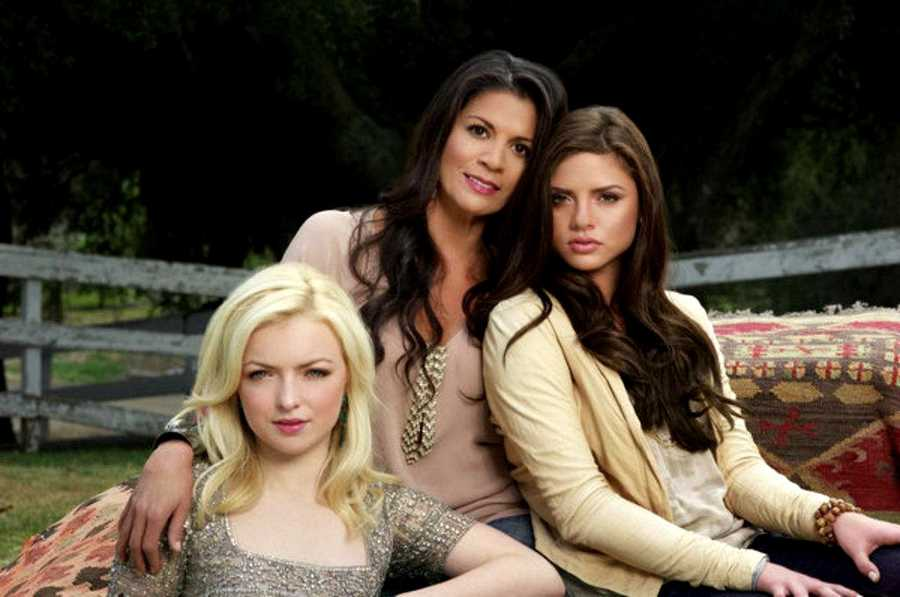 """Dina Eastwood is seen with her daughter, Morgan Eastwood, and Clint Eastwood's daughter, Francesca Eastwood. They are the main characters in a reality show with Overtone called """"Mrs. Eastwood & Company."""""""