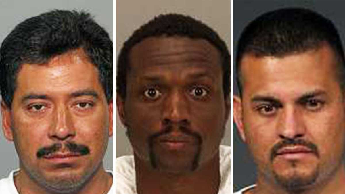 Alejandro Benitez, left, Marquis Reynolds, and Pedro Castellon Medina are all accused of committing homicides in San Jose this year.