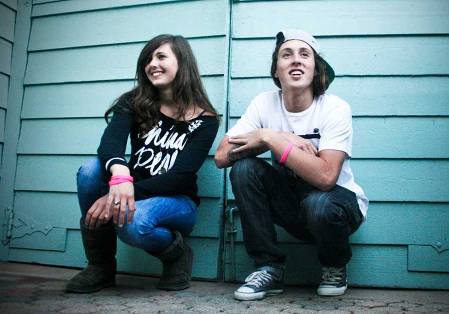"""Snowboarder Marissa Hushaw and Danny Keith's skater son, Zane Keith, are """"hunger fighters"""" devoted to combating childhood hunger in Santa Cruz County."""