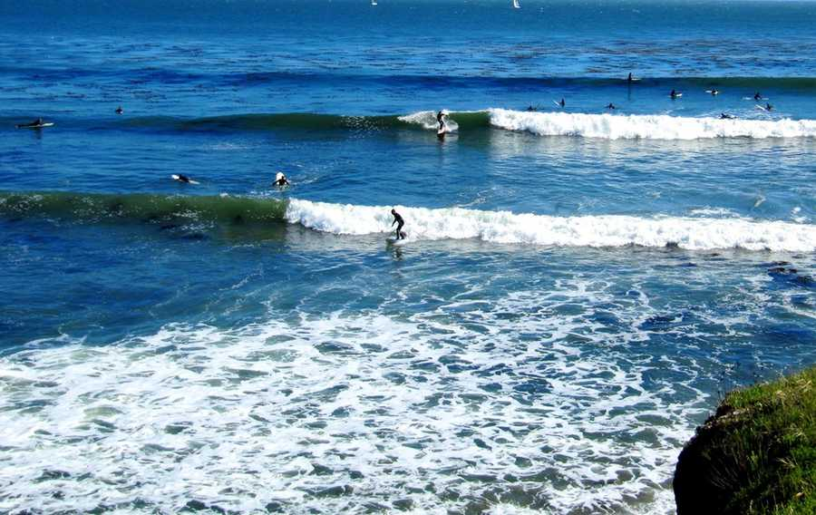Steamer Lane in Santa Cruz is one of the most famous surf spots in the world.