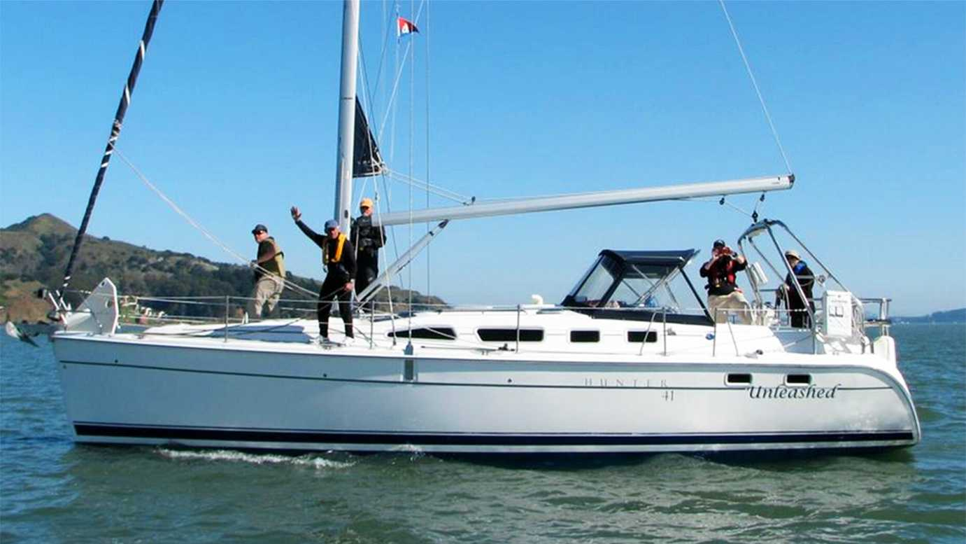 "This boat, named ""Unleashed,"" was stolen on Tuesday."