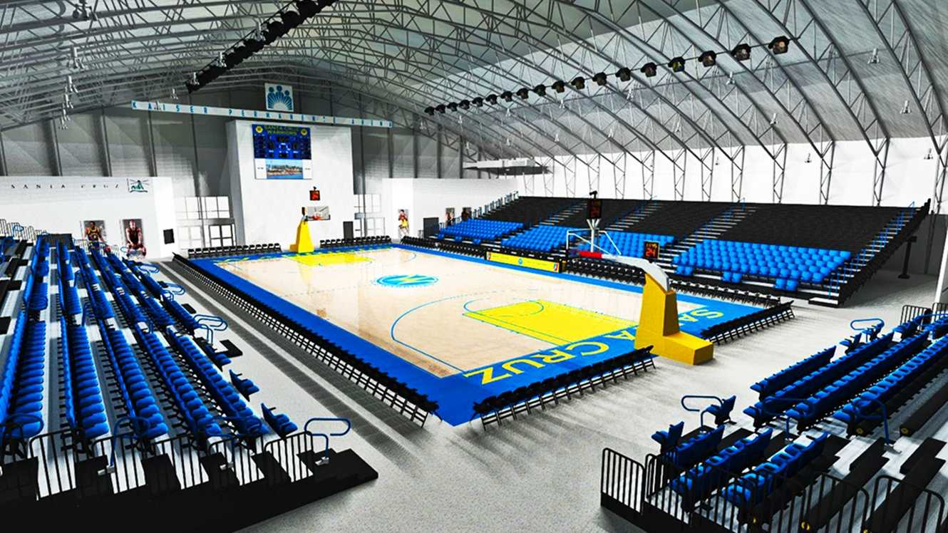 The Santa Cruz Warriors' arena is seen in an artist's rendering.