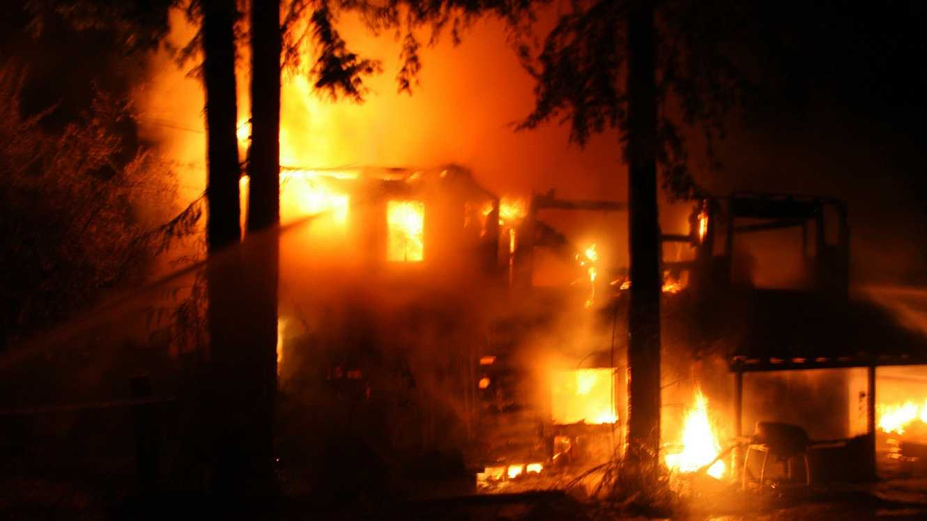 A fire in Boulder Creek destroyed a two-story house. (Sept. 13, 2012)