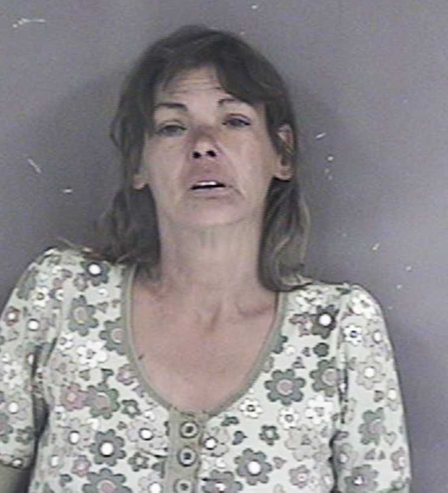 Alice Nicodemus, 52,was arrested in Hollister on suspicion of stabbing a man in the neck with a pair of scissors because he stole her recyclable cans on Sept. 21.