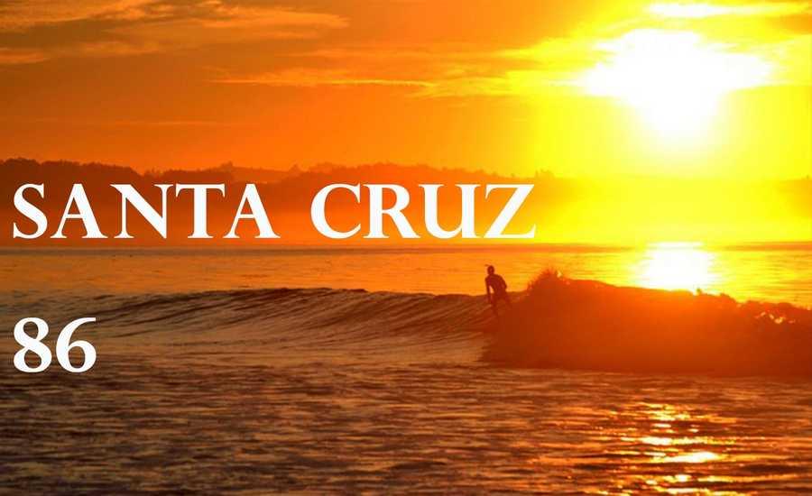 Santa Cruz hit 86 degrees at 3 p.m.