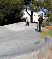 The skate park was renovated earlier this year by the City of Santa Cruz.