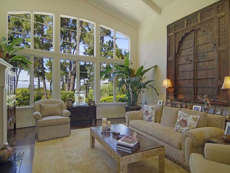 "Property Details: ""Nestled on a private ridge line among pristine oaks and pines this luxurious Monterra estate offers spectacular water views from the Monterey Bay to the Santa Cruz mountains. Featuring 5,600 sq ft of single level living, the residence offers 5 Bedrooms, 5.5 Baths, living rm., dining rm., library, kitchen and family room with great architectural fore-thought for proportion and privacy."""