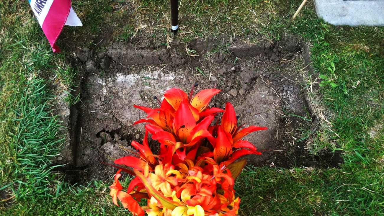 Santa Cruz CHP OfficerJohn Pedro's gravestone was stolen.
