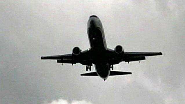 Jet takes off