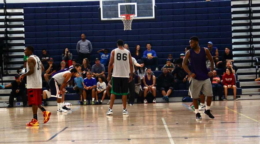 Nearly 70 local athletes showed off their best basketball moves inside Aptos High School's gym on Sunday while trying out for the Santa Cruz Warriors.