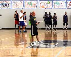 Here is the man everyone wanted to impress the most, Santa Cruz Warriors Head Coach Nate Bjorkgren.