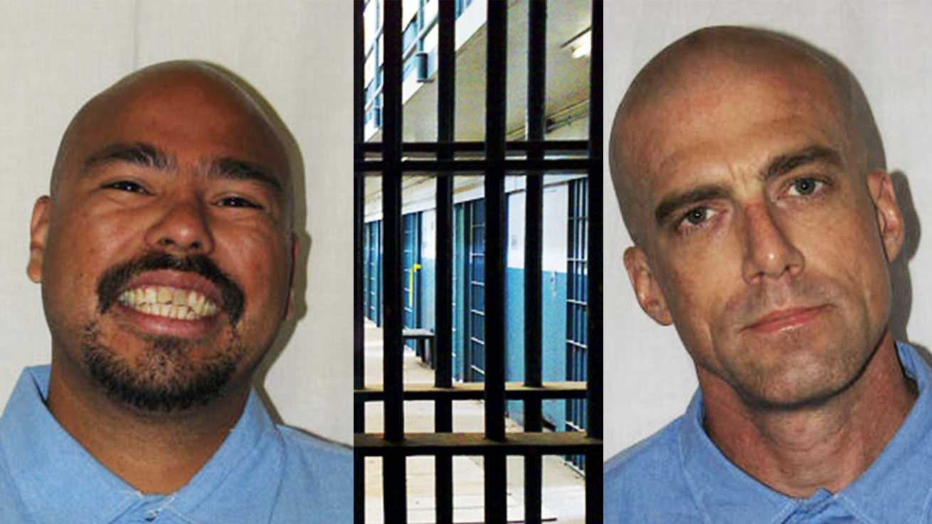 Joseph Manibusan, left, and Kenneth Bivert, right, are seen in death row mug shots.