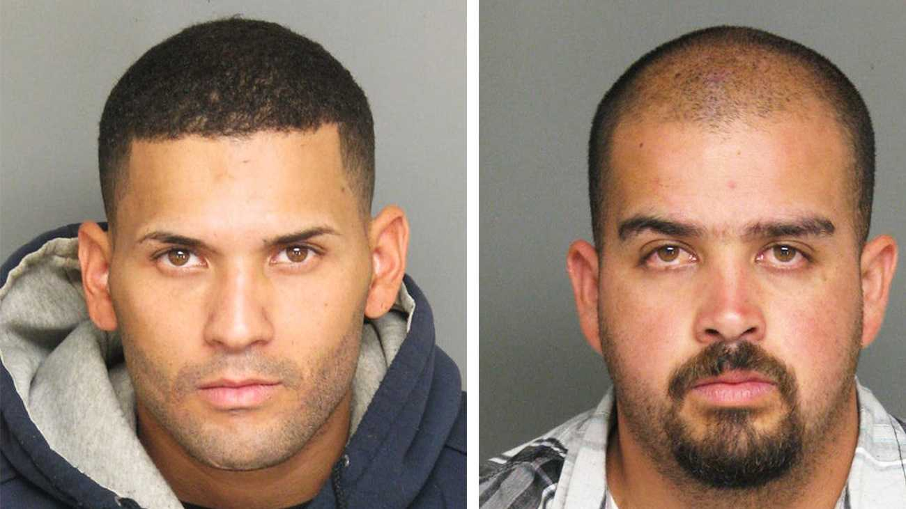 Manuel Rico Cruz, left, and Miguel Silva are seen in mug shots.