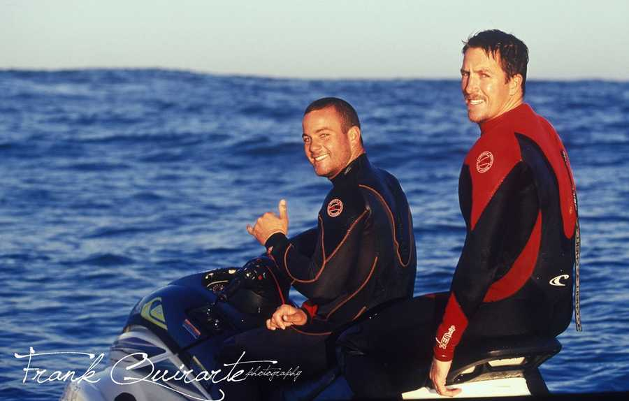 "The real Jay Moriarity is seen in this photo shot by photographer Frank Quirarte.When ""Chasing Mavericks"" opens in theaters at midnight Friday, movie-goers across the country will learn about the life of this inspirational Santa Cruz surfer."