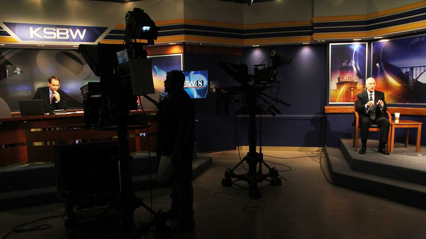 Gov. Jerry Brown was interviewed by anchor Dan Green inside KSBW's studio in Salinas last year.