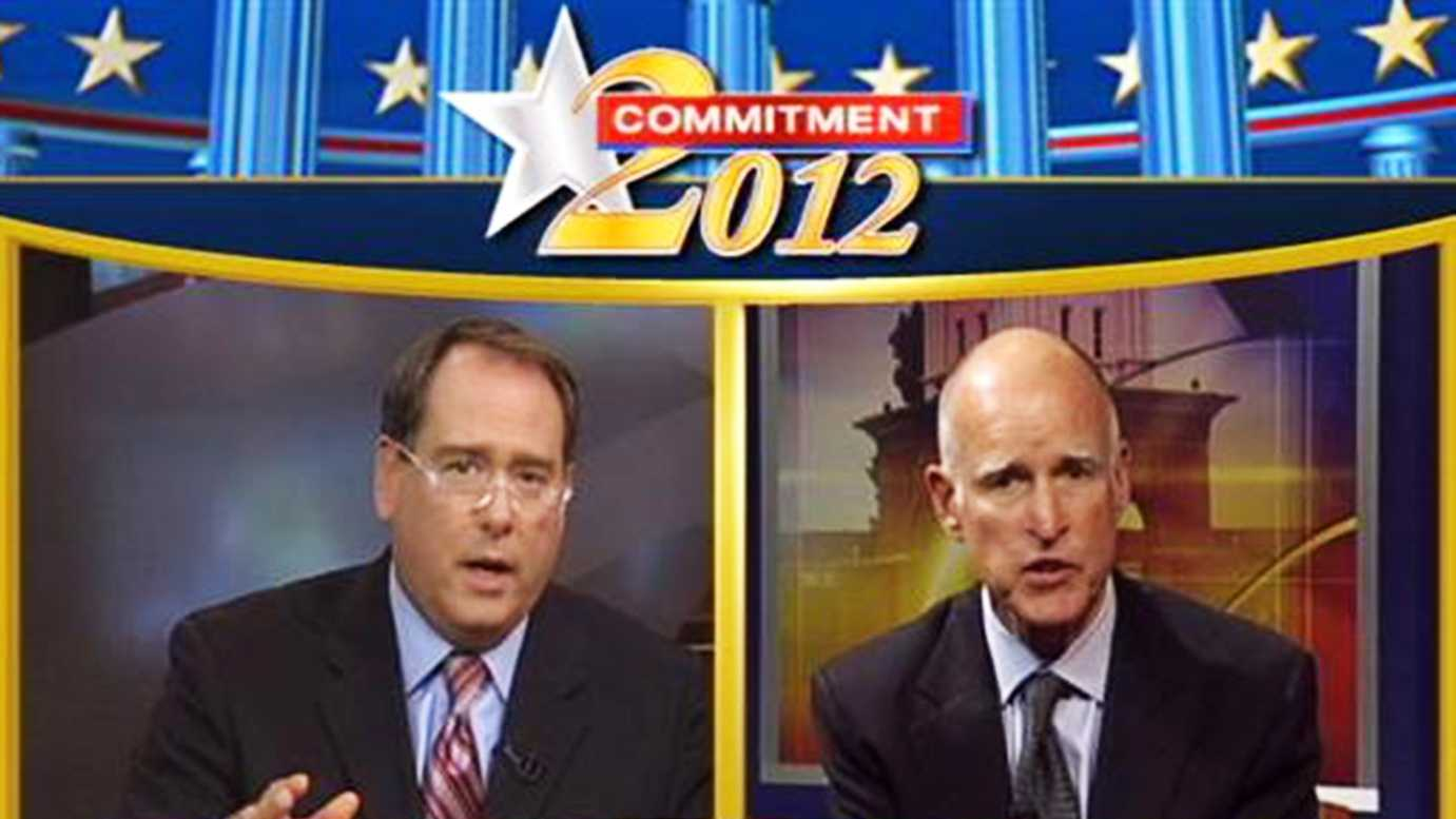 Gov. Jerry Brown was interviewed live by anchor Dan Green inside KSBW's studio in Salinas.