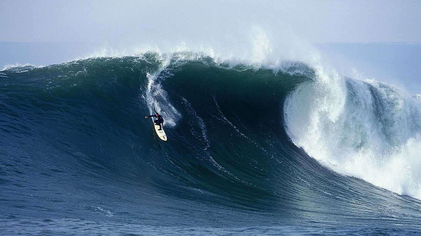This is the real Jay Moriarty surfing at Mavericks.