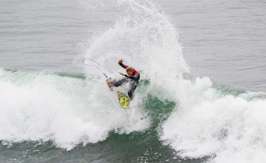 Surfline.com predicted that the current WNW swell will fade Friday. Competition will not likely happen Saturday. A larger WNW swell will build all day Sunday, peak overnight, and continue through Monday.